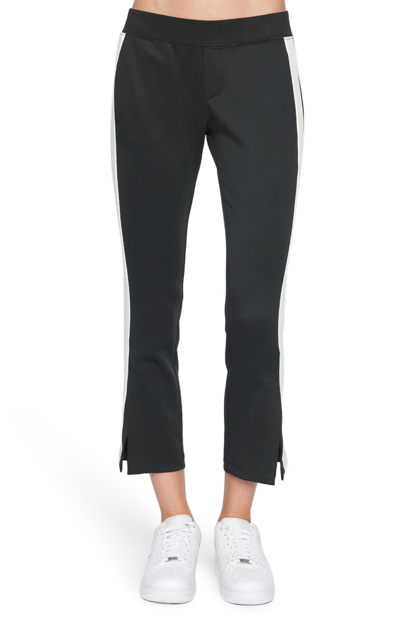 Women's Pam & Gela Crop Track Pants,  Petite - Black