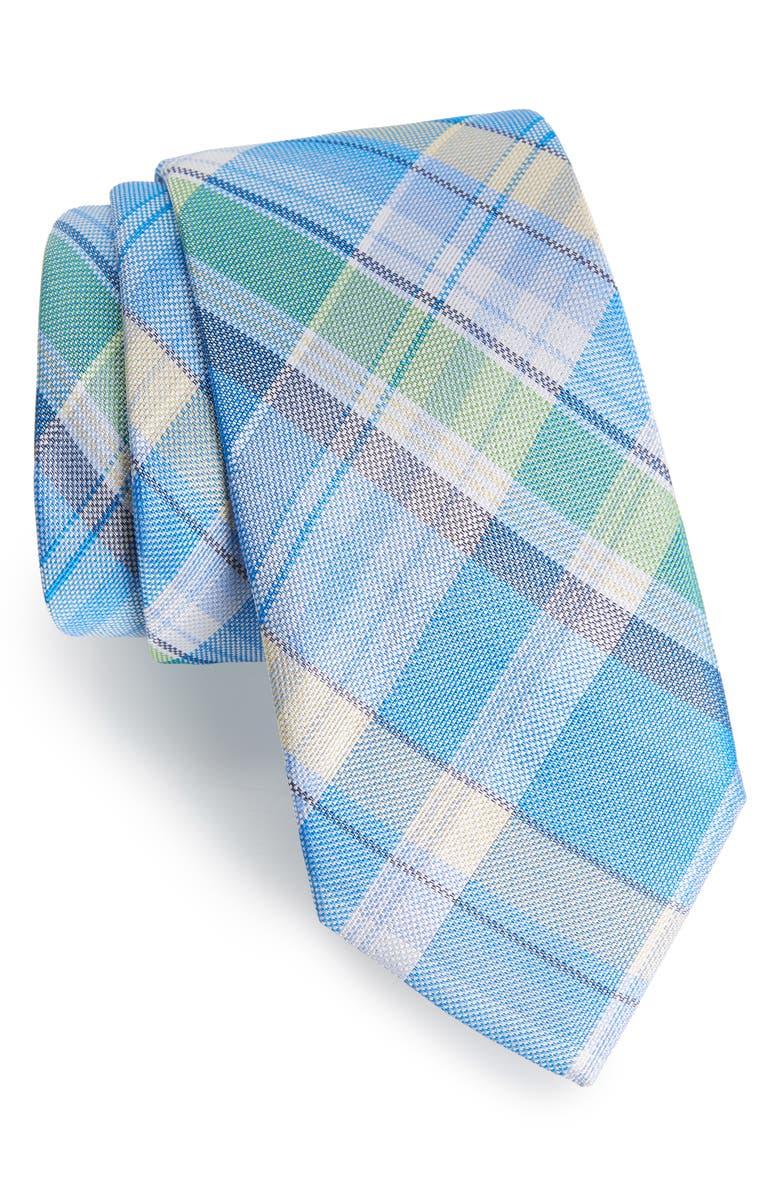 SOUTHERN TIDE Del Rio Plaid Silk Tie, Main, color, 400