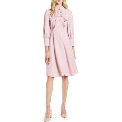 Halogen X Atlantic-Pacific Bow Detail Fit & Flare Dress, Pink (Nordstrom Exclusive)