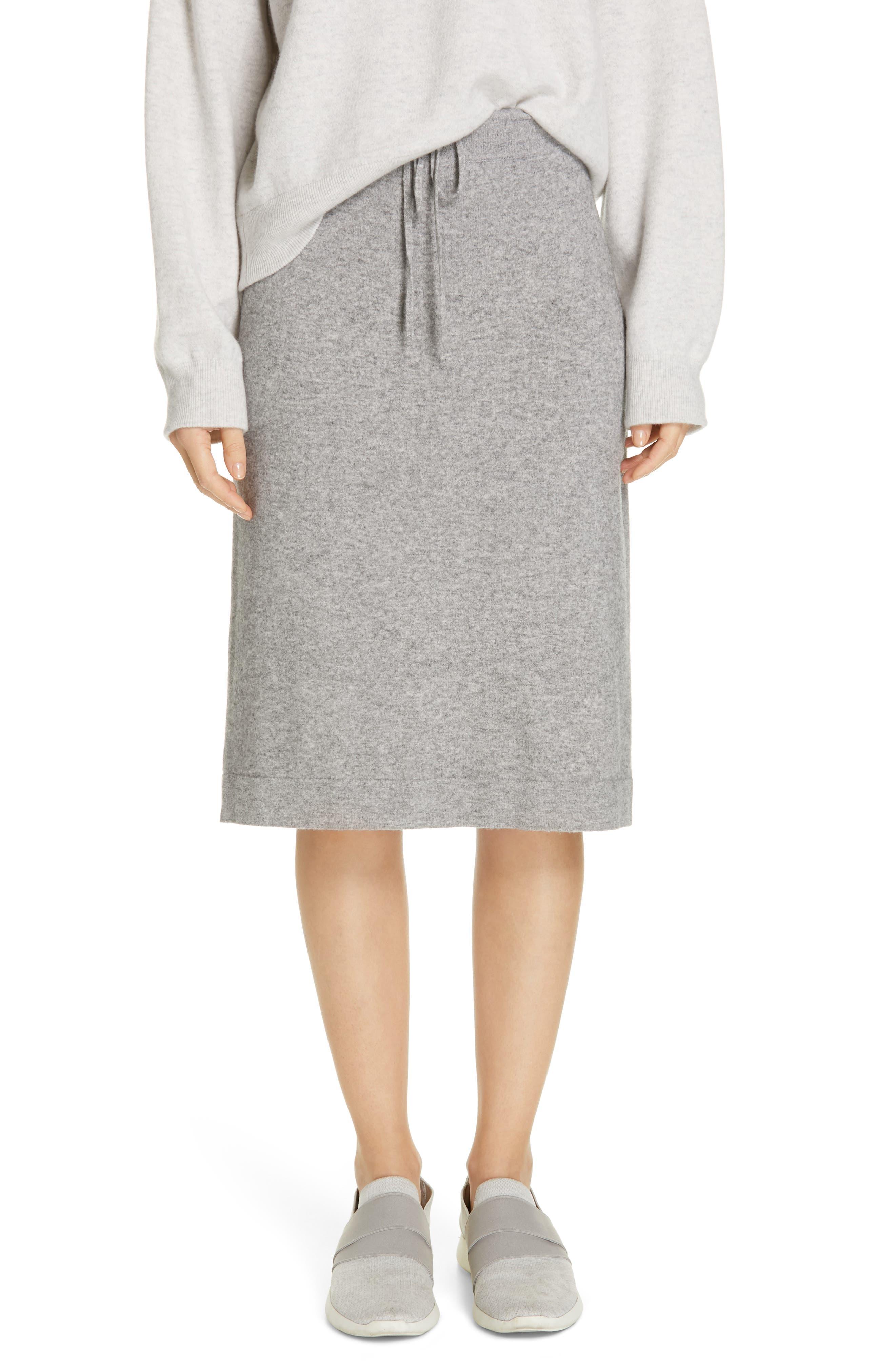 Knit Skirt, Main, color, H STEEL