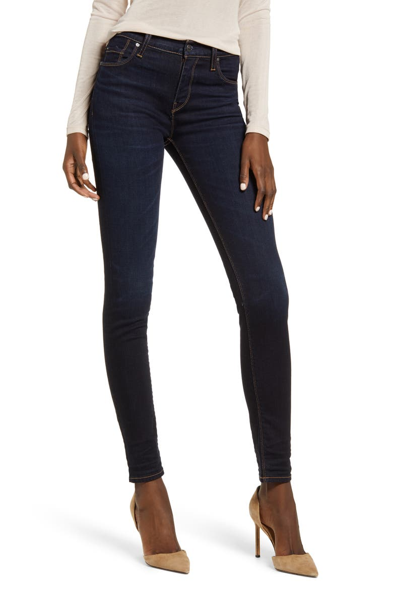HUDSON JEANS Nico Super Skinny Jeans, Main, color, ROTATION