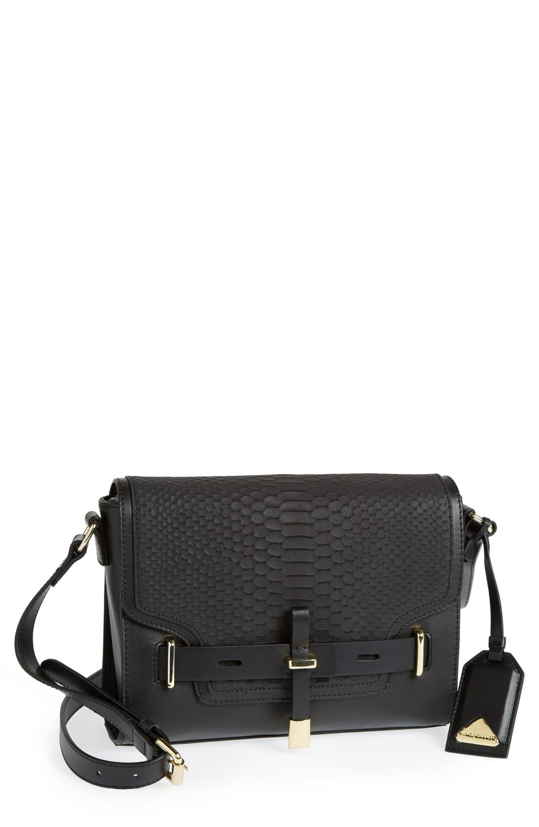 'Max' Leather Crossbody Bag, Main, color, 002