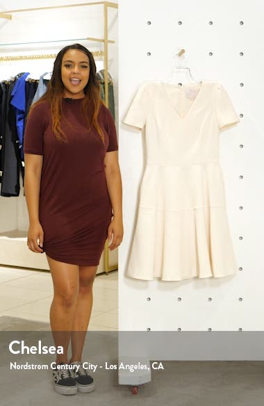 Kate V-Neck Fit & Flare Dress, sales video thumbnail