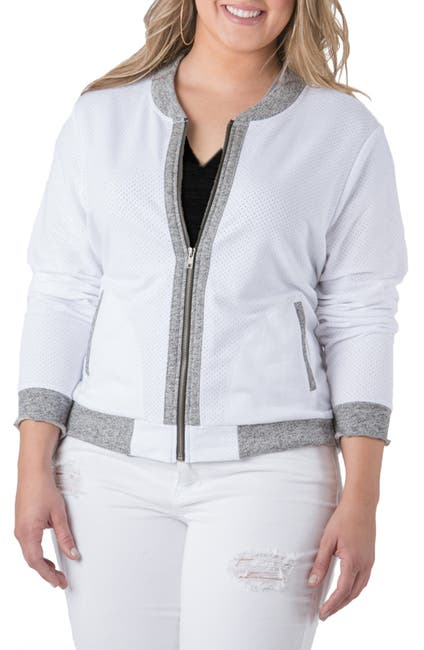 Image of Standards & Practices Alexis Zip Front Baseball Jacket