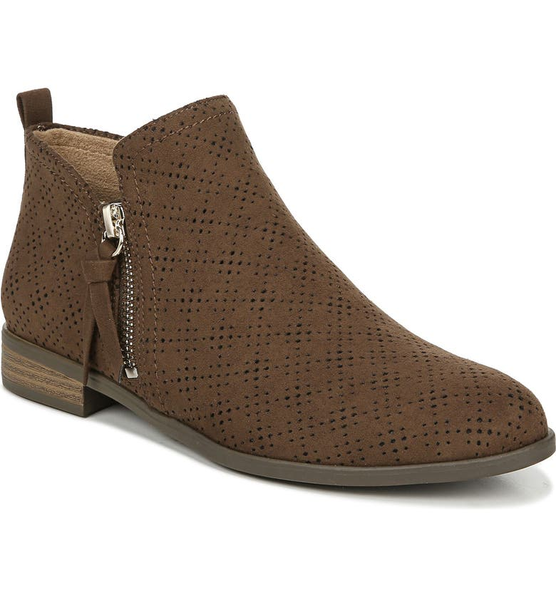 DR. SCHOLL'S Dr. Scholls Rate Bootie, Main, color, CHOCOLATE PERFORATED FABRIC
