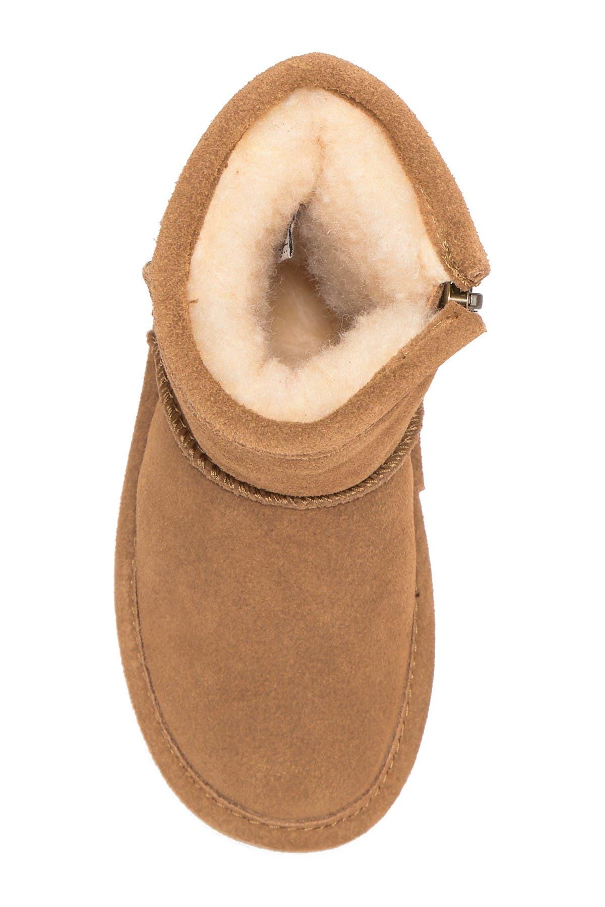 BEARPAW Emma Side-Zip Genuine Shearling Lined Boot