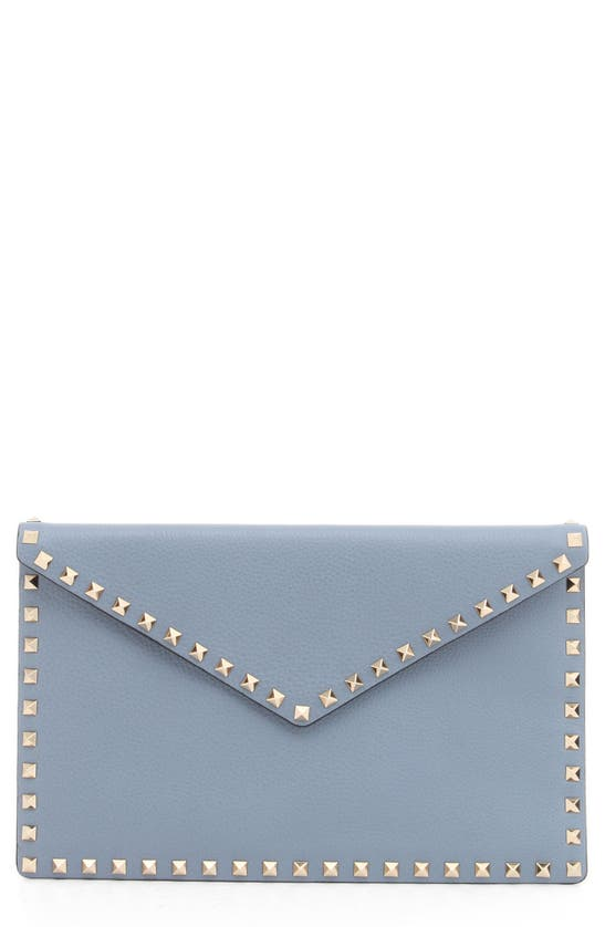 VALENTINO Pouches ROCKSTUD LEATHER ENVELOPE POUCH