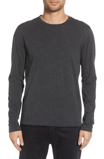 John Varvatos T-shirts SOLID LONG SLEEVE T-SHIRT