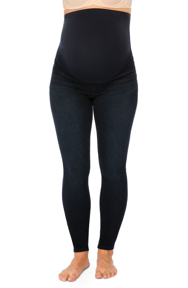 SPANX<SUP>®</SUP> Mama Ankle Jean-ish<sup>®</sup> Seamless Maternity Leggings, Main, color, TWILIGHT RINSE
