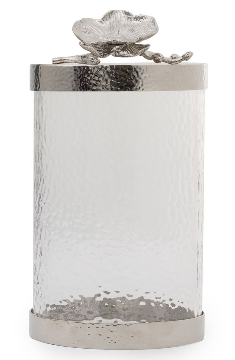 MICHAEL ARAM White Orchid Canister, Main, color, SILVER/ LARGE