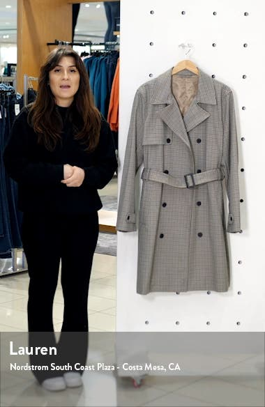 Houndstooth Double Breasted Trench Coat, sales video thumbnail