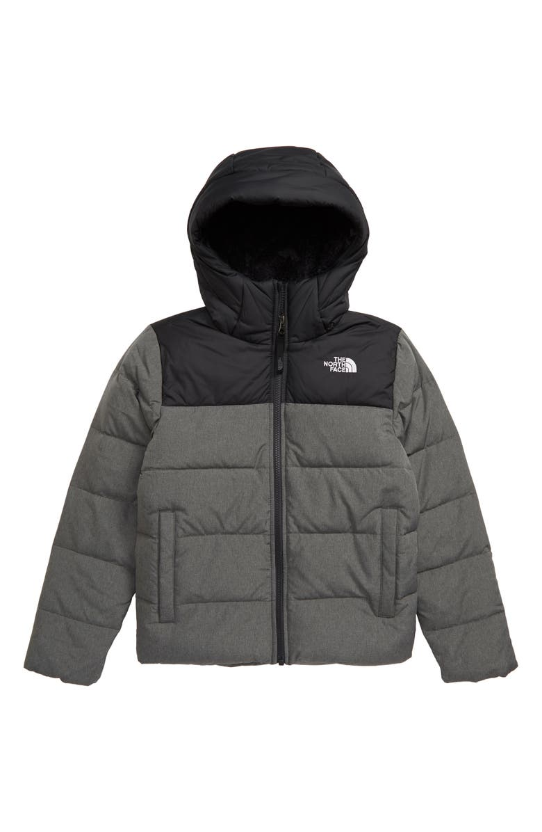 THE NORTH FACE Moondoggy 2.0 Water Repellent 550 Fill Power Down Jacket, Main, color, TNF MEDIUM GREY HEATHER