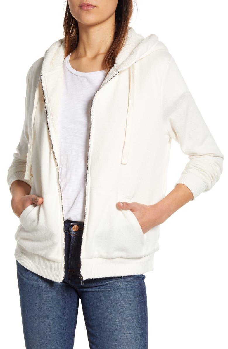 BOBEAU Hooded Jacket, Main, color, SUGAR TONAL
