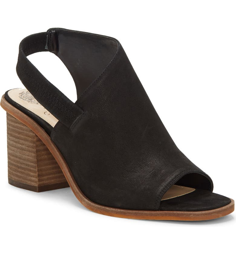 VINCE CAMUTO Kailsy Sandal, Main, color, SOFT GRAIN GOAT BLACK LEATHER