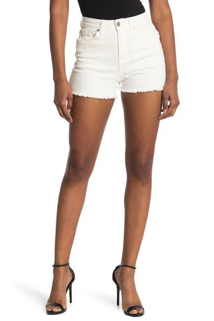 Image of Abound Fray Hem High Rise Sustainable Denim Shorts