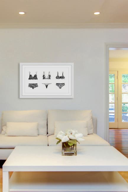 """Image of Marmont Hill Inc. Lingerie Trio Framed Painting Print - 30""""x20"""""""