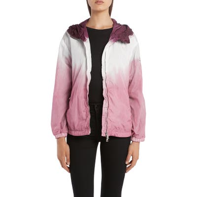 Moncler Hooded Dip Dye Jacket, Pink