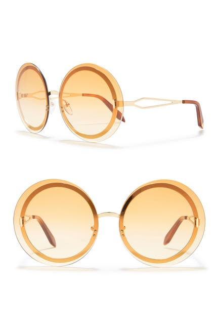 Image of Victoria Beckham 65mm Oversize Round Sunglasses