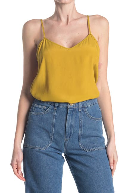 Image of French Connection Etta Silk Mix V-Neck Cami