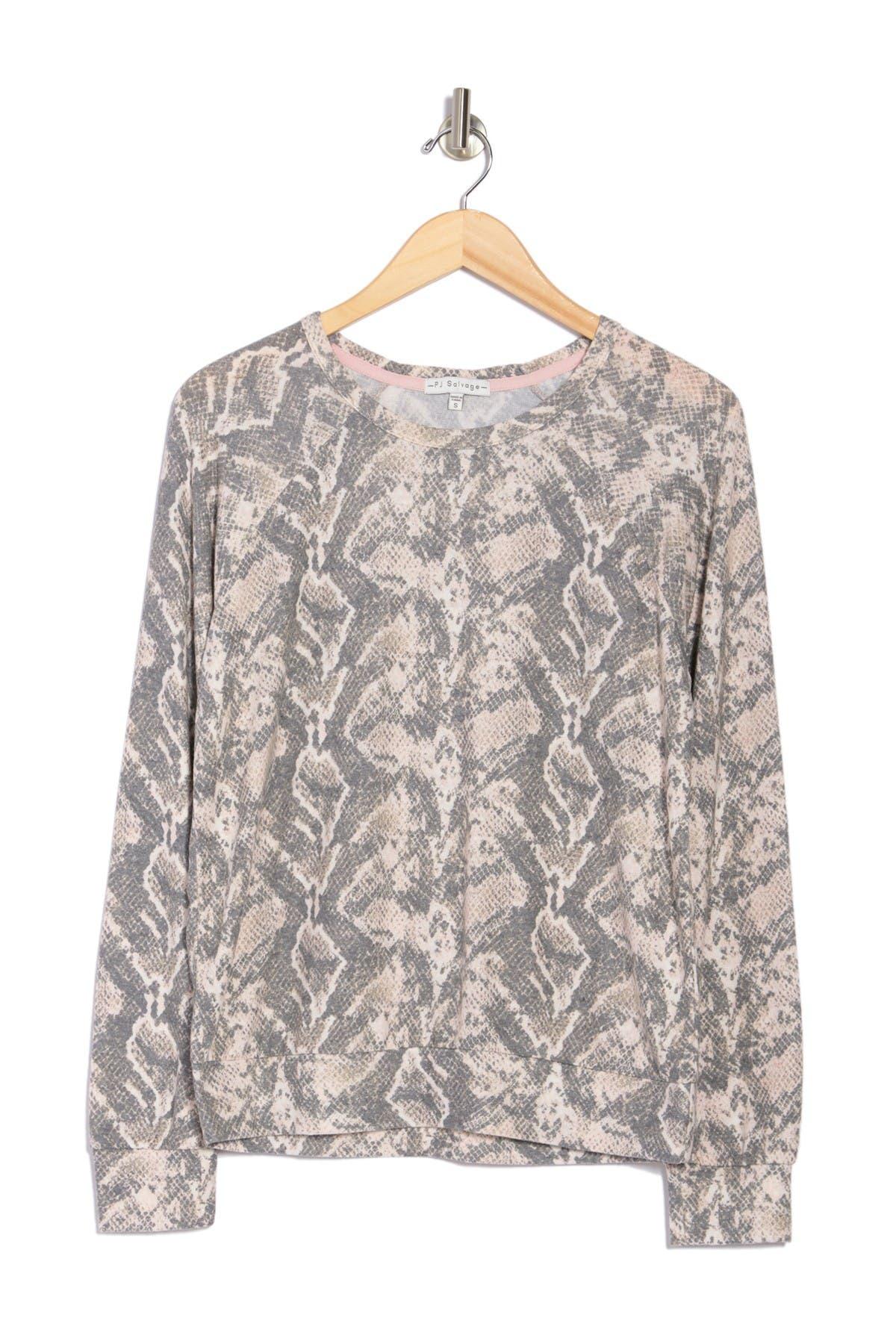PJ SALVAGE Long Sleeve Printed Top