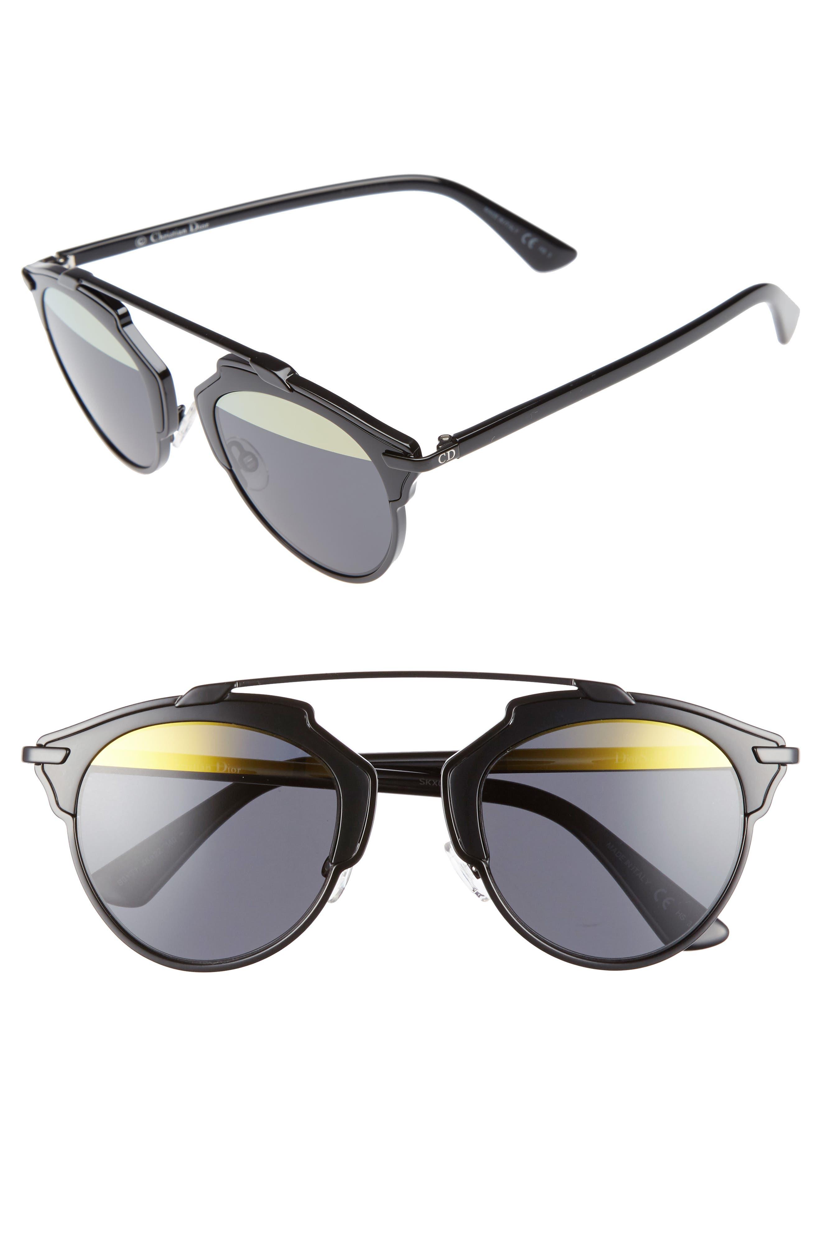 ,                             So Real 48mm Brow Bar Sunglasses,                             Main thumbnail 19, color,                             007