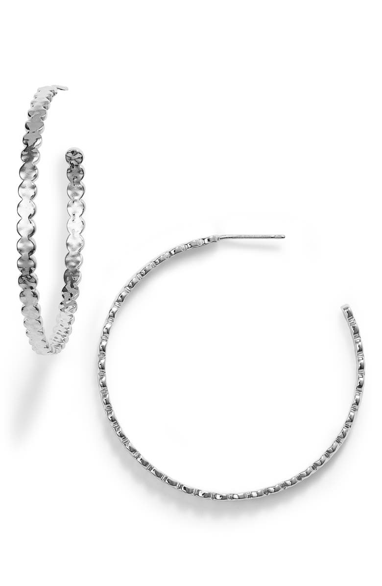 GORJANA Chloe Hoop Earrings, Main, color, 040