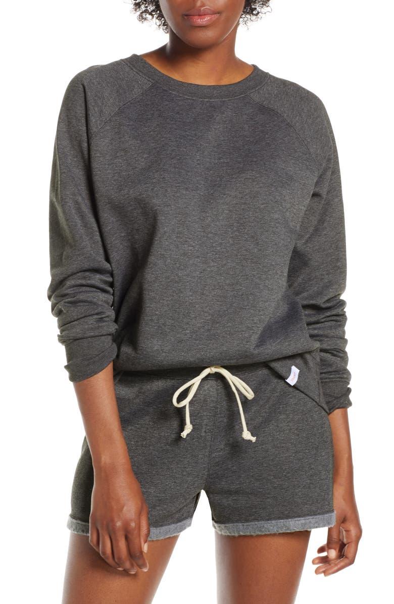 Hanes Luxe Raglan Fleece Sweater