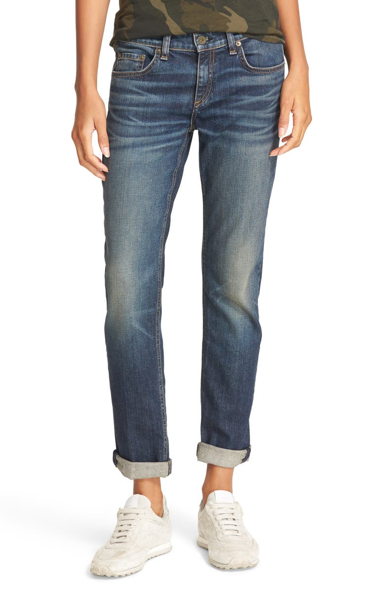 RAG & BONE/JEAN The Dre Slim Boyfriend Jeans, Main, color, 404