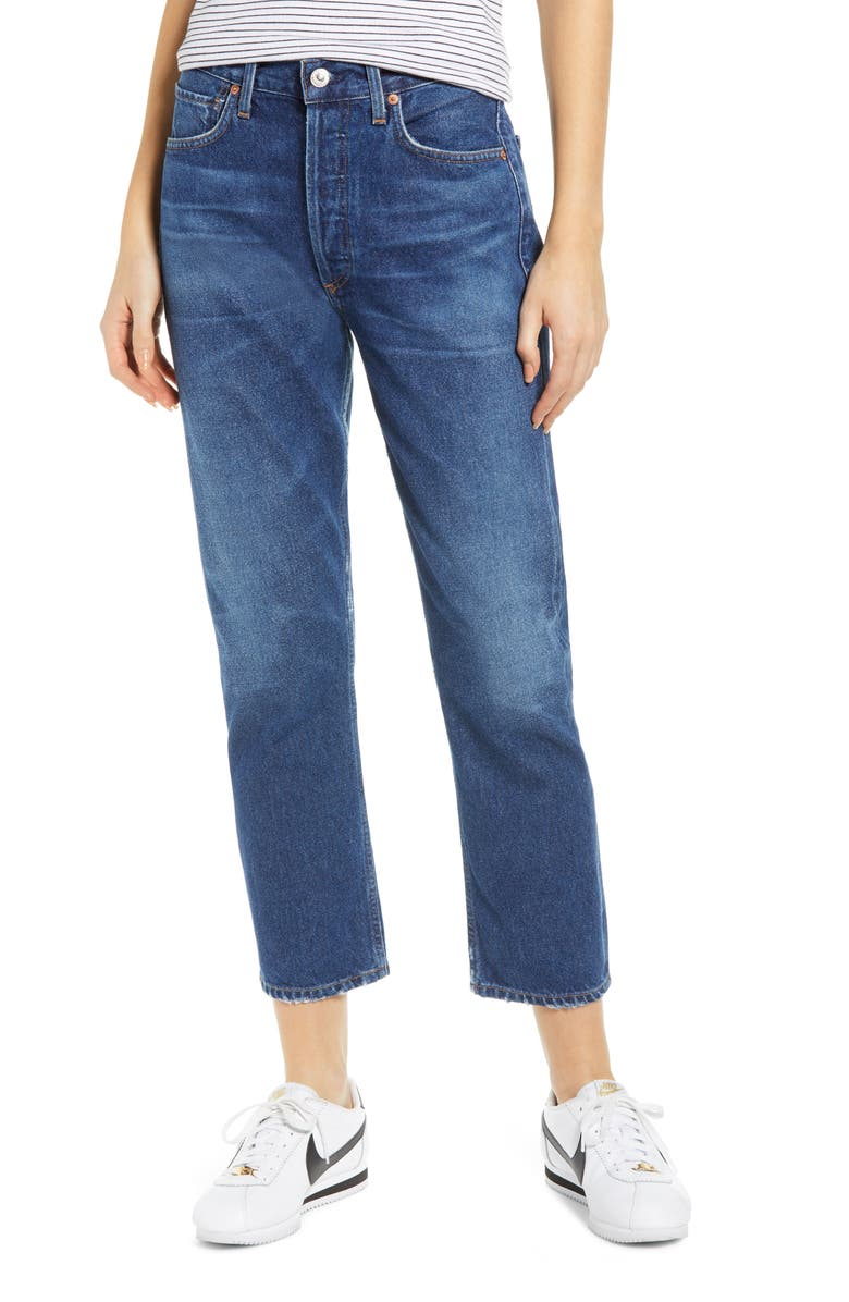 CITIZENS OF HUMANITY Crop Straight Leg Jeans, Main, color, WISH
