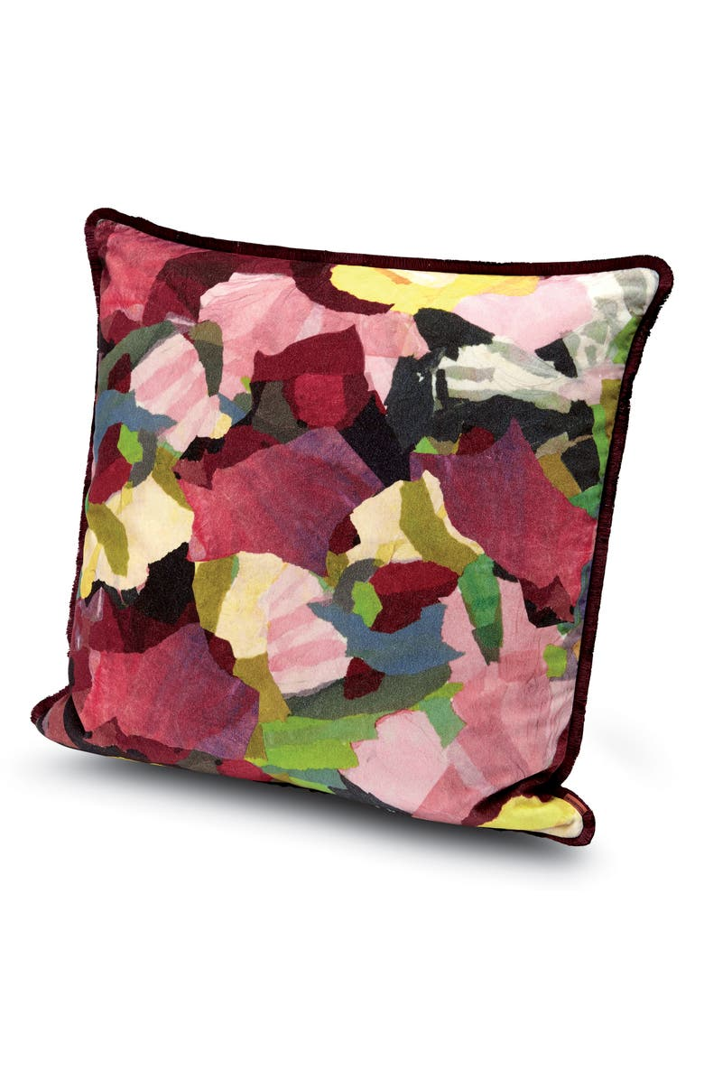 MISSONIHOME Wight Floral Accent Pillow, Main, color, MULTI BERRY