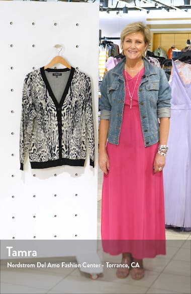 Animal Print Cardigan, sales video thumbnail