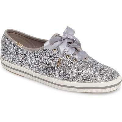 Keds X Kate Spade New York Glitter Sneaker, Metallic
