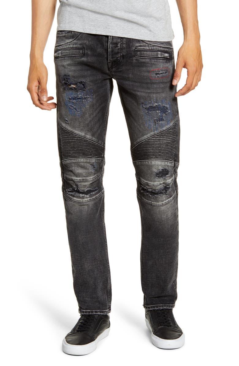 HUDSON JEANS Blinder Biker Skinny Fit Jeans, Main, color, POST UP