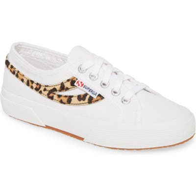 Superga 2953 Cotu Genuine Calf Hair Sneaker, White