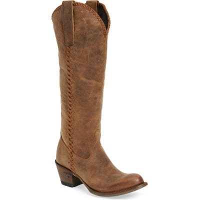 Lane Boots Plain Jane Knee High Western Boot, Brown