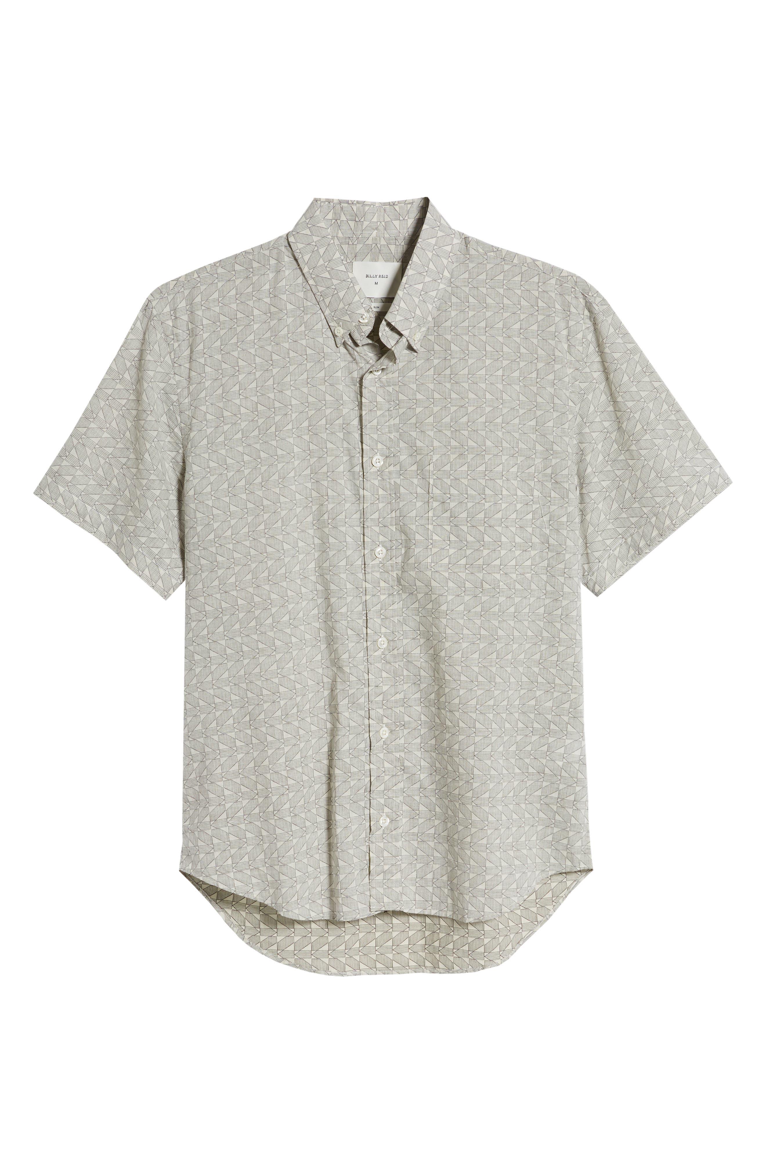 ,                             Tuscumbia Palisades Slim Fit Sport Shirt,                             Alternate thumbnail 5, color,                             NAVY/ WHITE