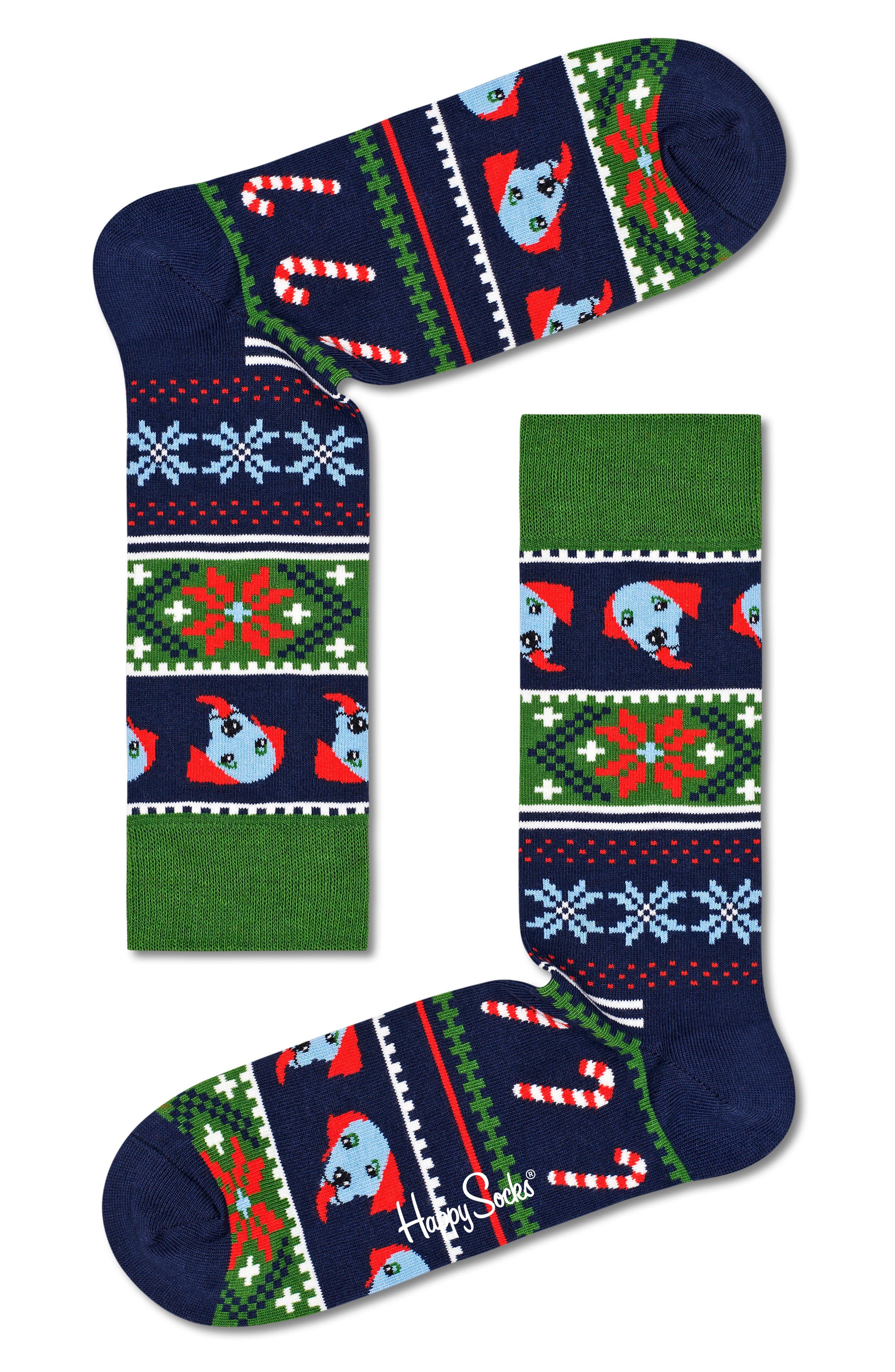 Happy Holiday Crew Socks
