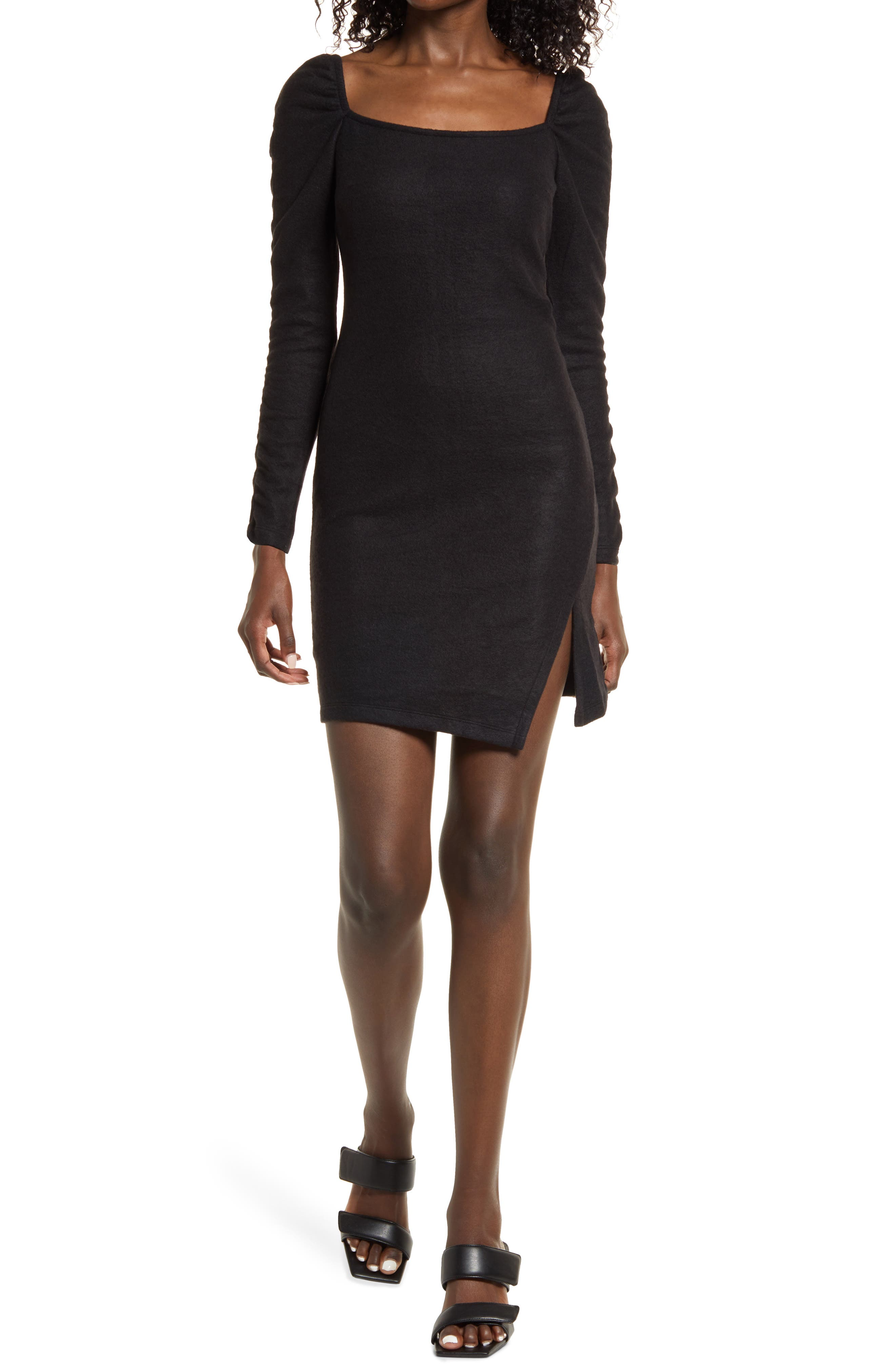 Women's Kendall + Kylie Ruched Long Sleeve Minidress