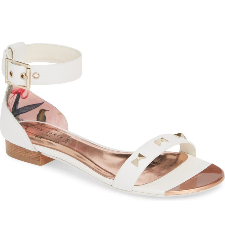 TED BAKER LONDON Ovey Sandal, Main, color, WHITE LEATHER