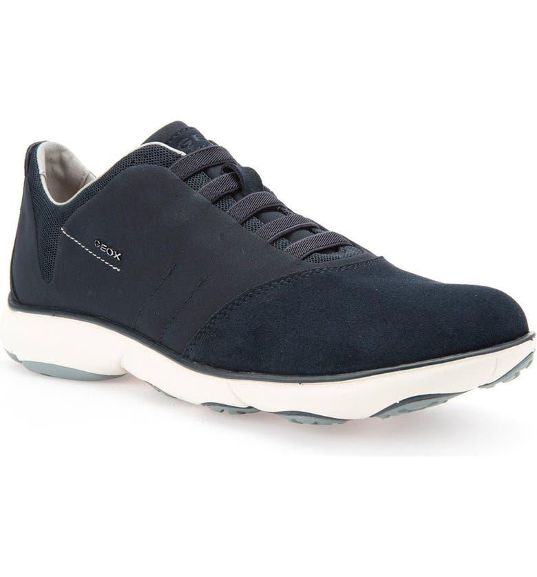 GEOX Nebula10 Slip-On Sneaker, Main, color, NAVY SUEDE