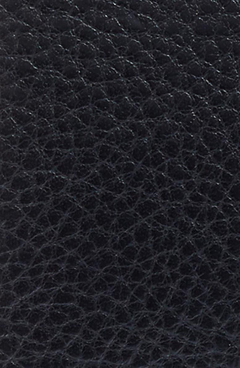 BOSCA Heavyweight Leather Belt, Main, color, 001