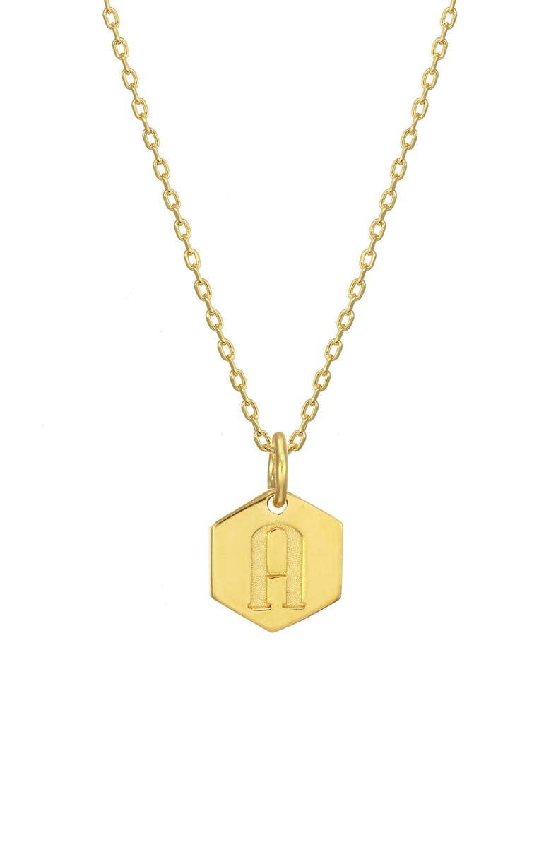 Stella Ruby Monogram Initial Pendant Necklace