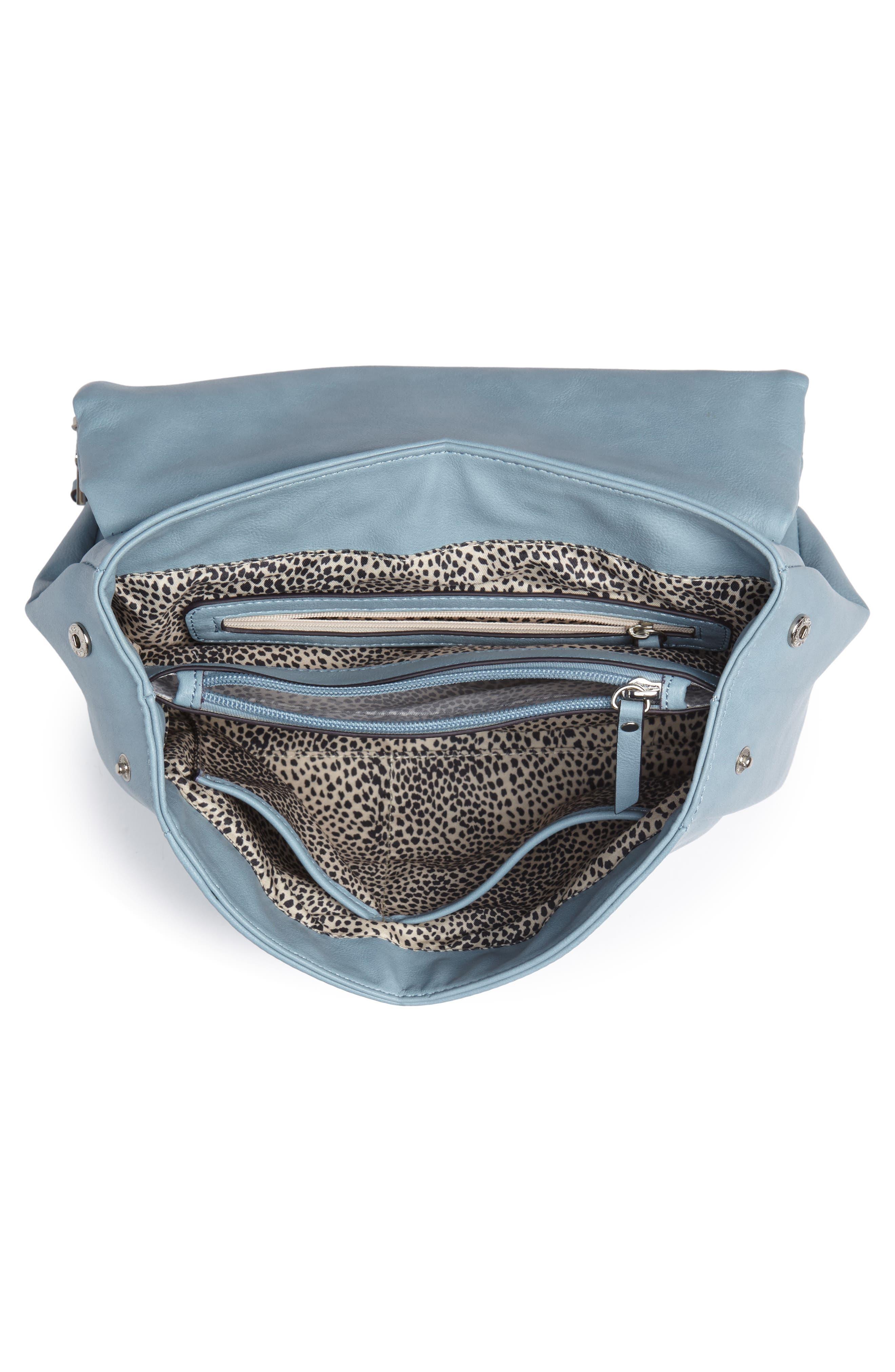 ,                             Top Handle Faux Leather Crossbody Bag,                             Alternate thumbnail 16, color,                             409