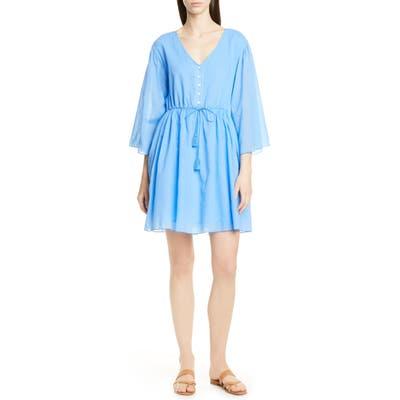 Atm Anthony Thomas Melillo Crinkle Cotton Dress, Blue