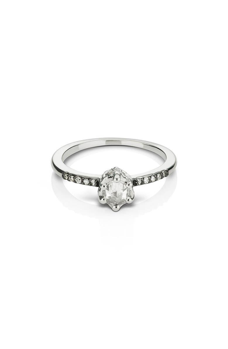 MANIAMANIA Entity Diamond Solitaire Ring, Main, color, WHITE GOLD