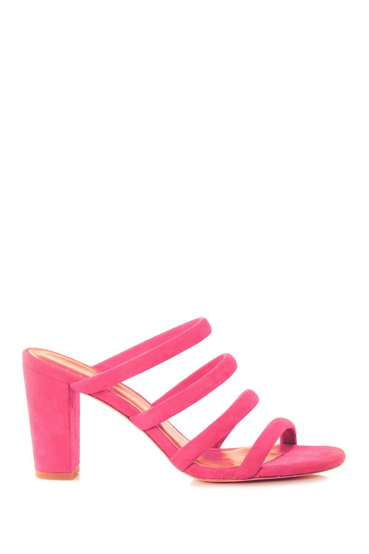Image of CHARLOTTE STONE Bettina Suede Block Heel Sandal