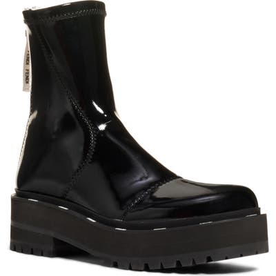 Fendi Zip Patent Combat Boot, Black
