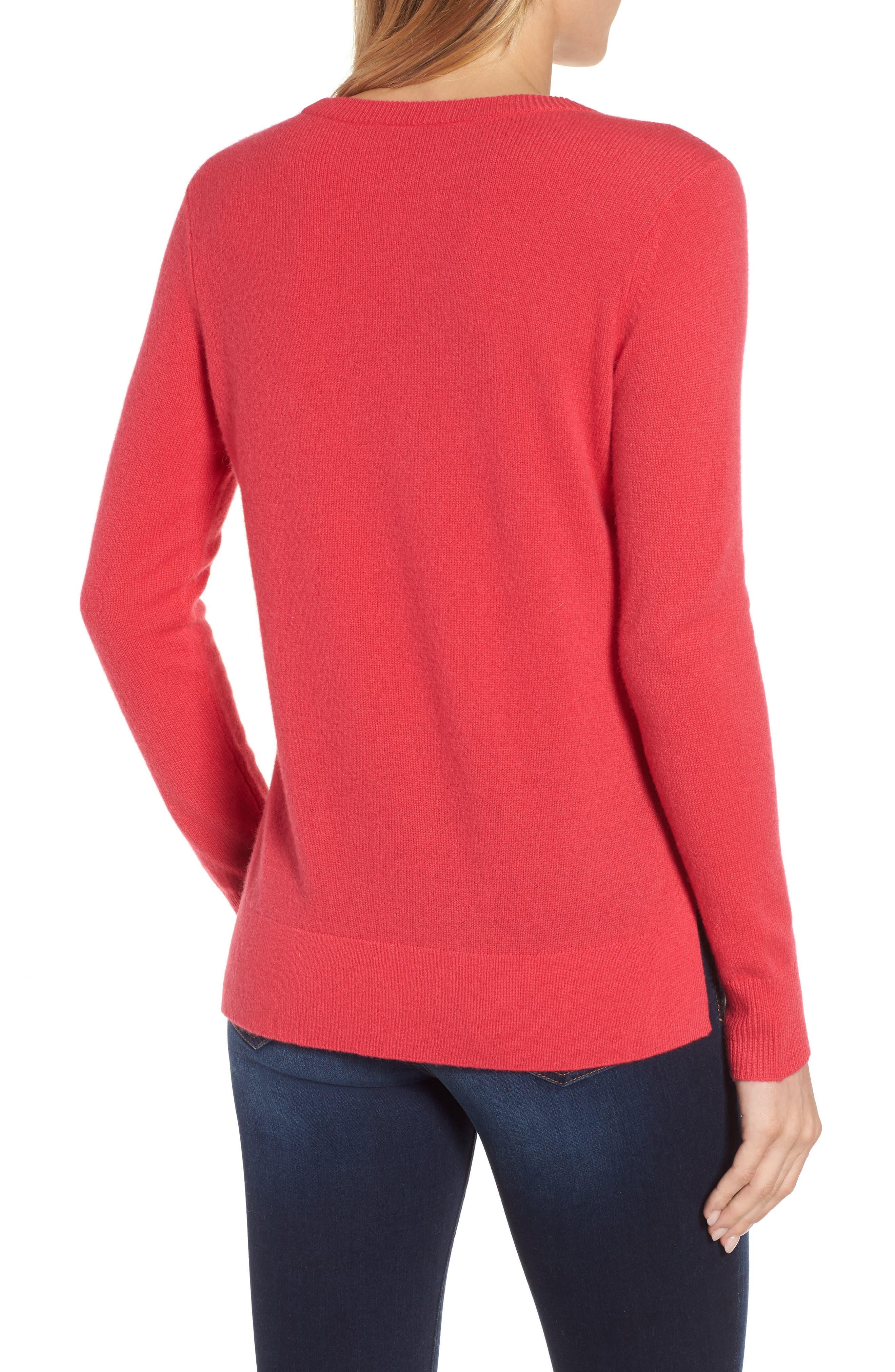 ,                             Crewneck Cashmere Sweater,                             Alternate thumbnail 163, color,                             650