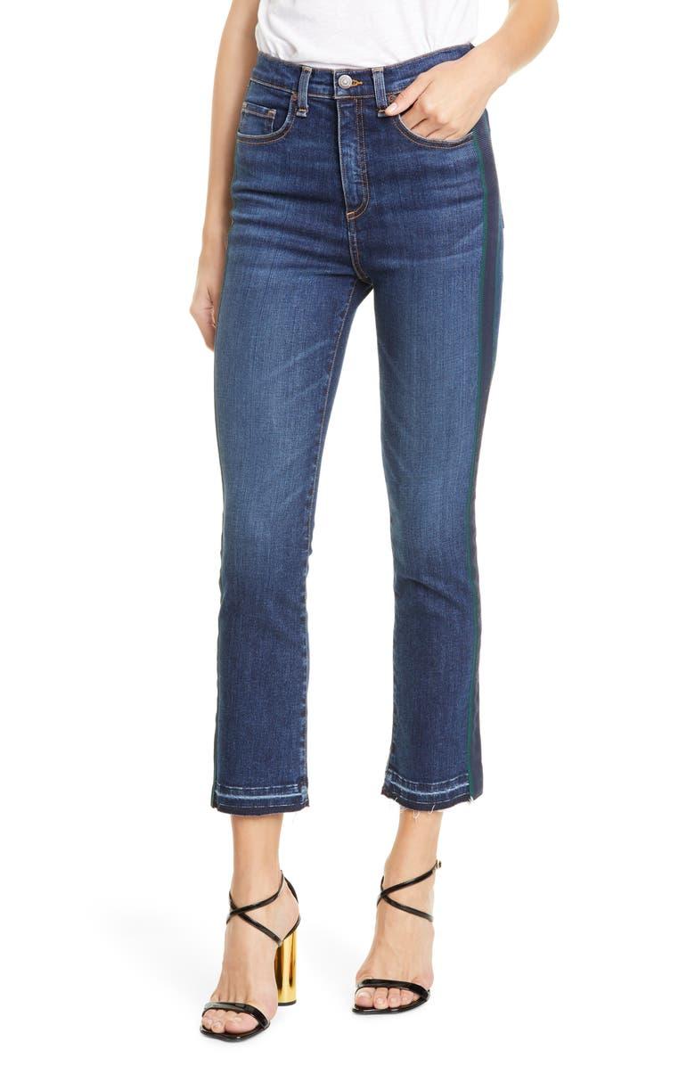 VERONICA BEARD Carly Tuxedo Kick Flare Jeans, Main, color, MEDIUM VINTAGE