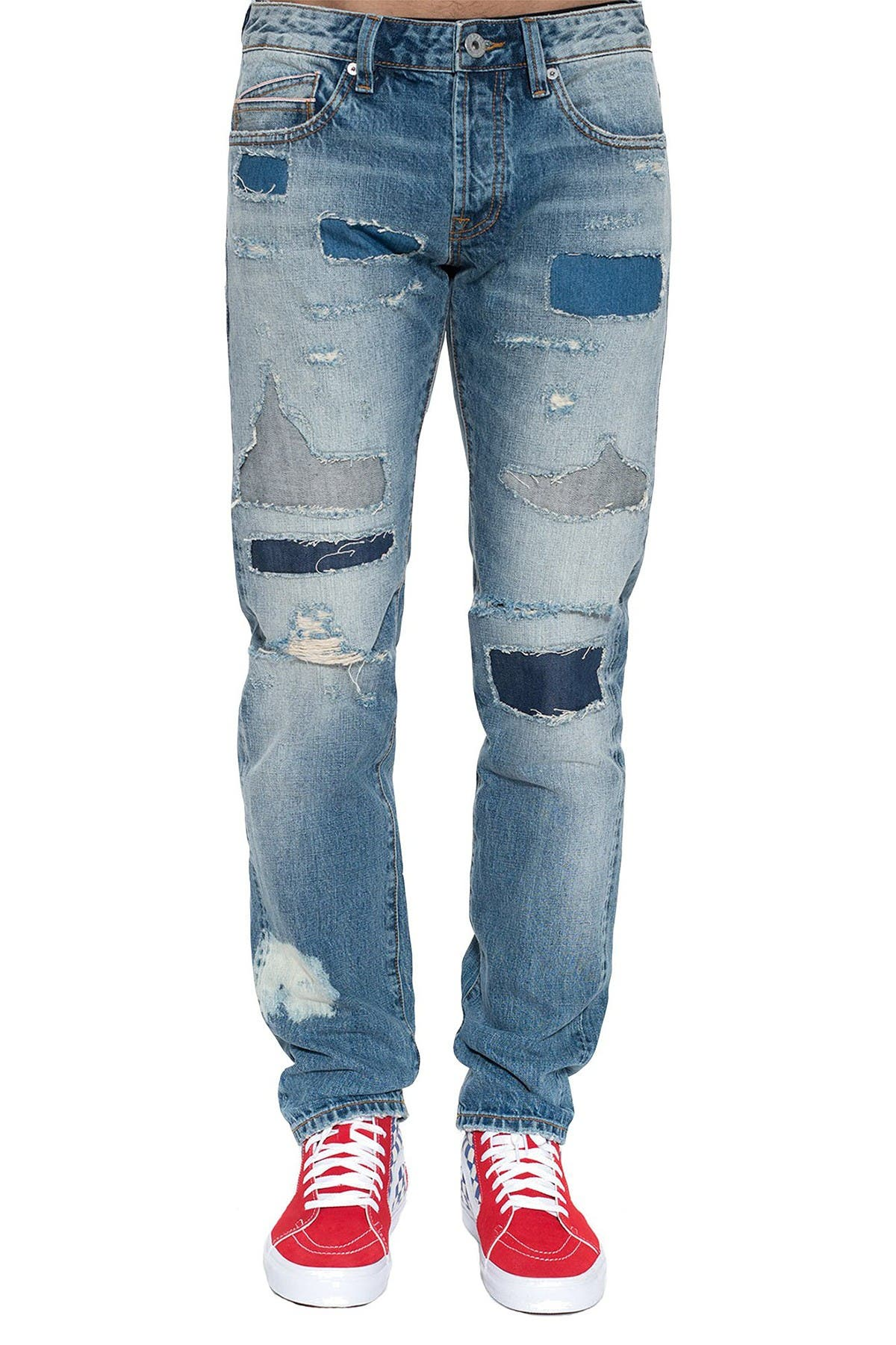 Image of Cult Of Individuality Greaser Distressed Slim Straight Jeans